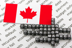 The economic crisis in Canada Royalty Free Stock Images