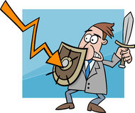 Economic crisis cartoon illustration Royalty Free Stock Images