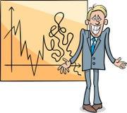 Economic crisis cartoon illustration Royalty Free Stock Photos