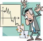 Economic crisis cartoon illustration Stock Image