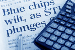 Economic crisis and falling stock market Stock Photo