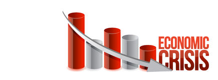 Economic crisis graph illustration design Stock Photo