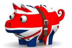 The economic crisis of the Great Britain. Concept Royalty Free Stock Photos