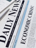 Economic crisis headline Stock Images