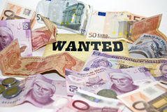Economic Crisis. Money Wanted. Royalty Free Stock Photos