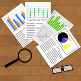 Economic data graphics and charts Stock Photos