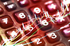 Economic data indicators Royalty Free Stock Photography