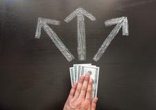 Economic decision Stock Image