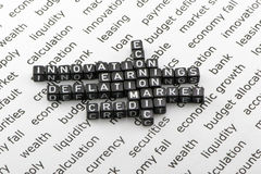 Economic decisions. In the concept Stock Photography