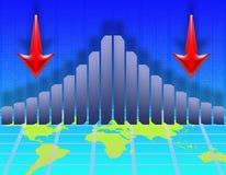Economic decline Stock Image
