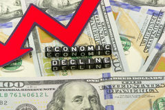Economic decline Royalty Free Stock Photography