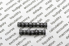 Economic decline Stock Images