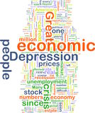 Economic depression wordcloud Royalty Free Stock Image
