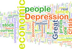 Economic depression wordcloud Royalty Free Stock Photography