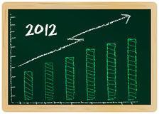 Economic diagram. Diagram: economic prospects for 2012, illustration Stock Photo