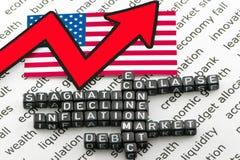 The economic disaster Stock Photo