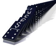 Economic Domino Effect Stock Photography