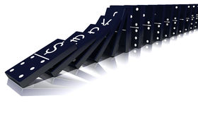 Economic Domino Effect Stock Photo