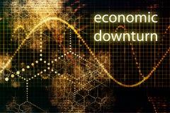Economic Downturn. Business Concept Wallpaper Presentation Background Stock Photo