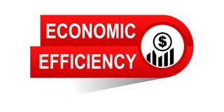 Economic efficiency banner. Commerce concept web banner icon on isolated white background - vector eps illustration Stock Photo