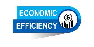 Economic efficiency banner. Commerce concept web banner icon on isolated white background - vector eps illustration Royalty Free Stock Photos