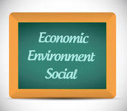 Economic, environment and social message Royalty Free Stock Image