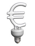 Economic Euro bulb Stock Images