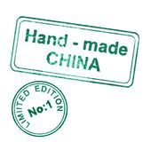 Economic expansion of china. Hand made stamp on white Stock Photo