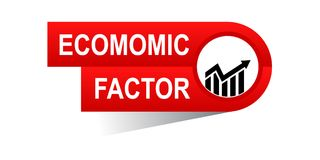 Economic factor banner. Commerce concept web banner icon on isolated white background - vector eps illustration Royalty Free Stock Photography