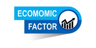 Economic factor banner. Commerce concept web banner icon on isolated white background - vector eps illustration Stock Photography