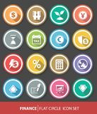 Economic and finance buttons,Colorful version Stock Images