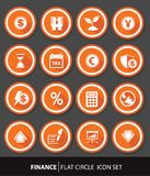 Economic and finance buttons. Orange version Stock Image