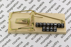 Economic and financial trap. On a white background Stock Photos