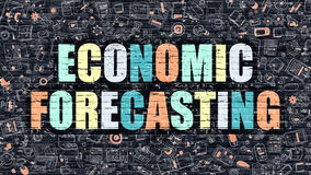 Economic Forecasting Concept. Multicolor on Dark Brickwall. Royalty Free Stock Image