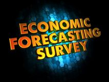 Economic Forecasting Survey on Digital Background. Stock Photo