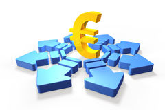 Economic future of the euro Royalty Free Stock Photography