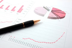 Economic graph Stock Image