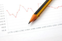 Economic graph Royalty Free Stock Images
