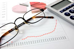 Economic graph Stock Images
