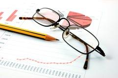 Economic graph Royalty Free Stock Photography