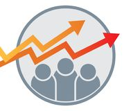 business graph arrow chart logo Royalty Free Stock Photos