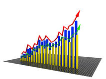 Economic graph came from the yellow �2 Stock Photography