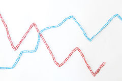 Economic graph diagram Royalty Free Stock Images