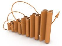Economic graph percent stock image