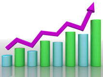 Economic growth charts �1 Royalty Free Stock Photography