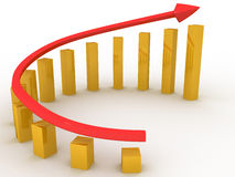 Economic growth charts Stock Photo