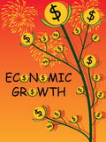 Economic Growth Cover. Illustration abstract economic growth cover firework money coin tree design Stock Photos