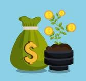 Economic growth design Royalty Free Stock Photos