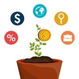 Economic growth design Stock Images