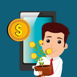 Economic growth design Royalty Free Stock Photography